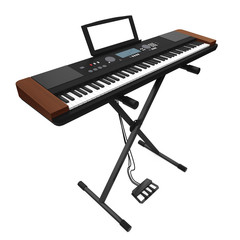 Synthesizer Electronic Piano Isolated
