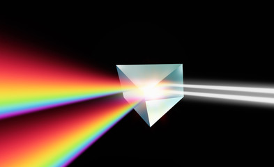 Wall Mural - 3D Prism with light spectrum