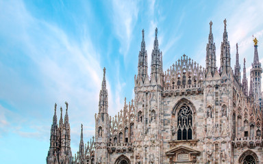 Photo sur Aluminium Milan Milan Cathedral - (Duomo di Milano (Milan Cathedral) and Piazza del Duomo in Milan)