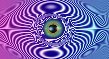 Image of Abstract colorful eye - 3D rendering