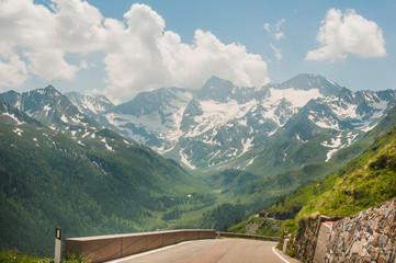 Timmelsjoch, Hochalpenstrasse, Passstrasse, Bergstrasse, Südtirol, Berge, Sommer, Italien