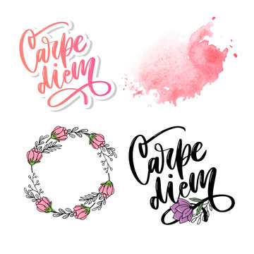 Carpe Diem. Beautiful message. It can be used for website design, t-shirt, phone case, poster, slogan
