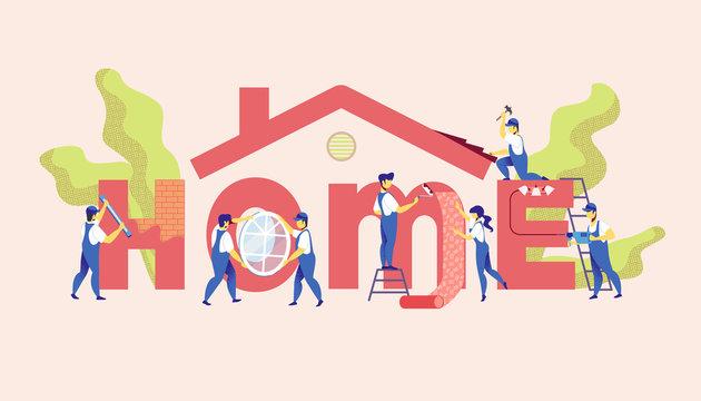 Home Repair Service. Master Renovation Apartment.