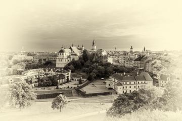 panorama Lublina w wersji retro