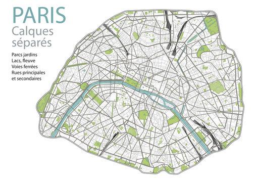 PLAN DE PARIS - ULTRA DETAIL- Calques - #3