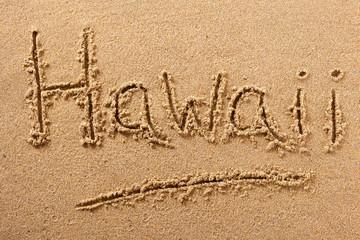 Hawaii beach sand sign