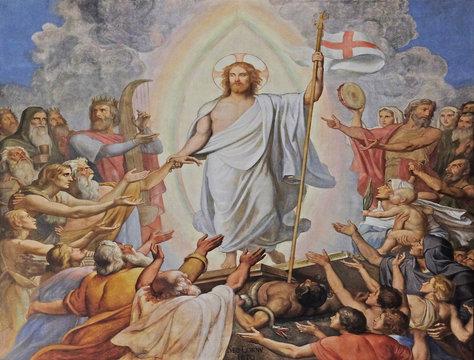Resurrection of Christ, fresco in the Saint Germain des Pres Church, Paris, France