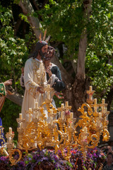 Fototapete - Hermandad del beso de Judas, semana santa de Sevilla