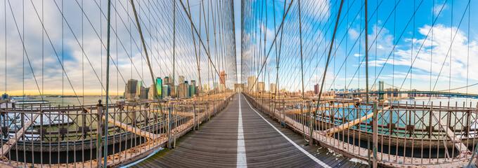 Brooklyn Bridge in New York, United States.