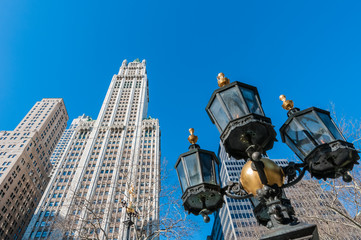 City Hall Square in New York, United States.
