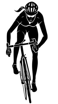 Cyclist Female Front View