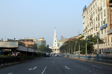 St Andrew's Church, BBD Bagh, Kolkata, India Papier Peint