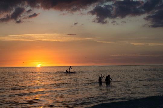 DSC2291a6000 Siesta Key Beach in Sarasota, Florida at sunset