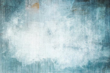 blue grunge painting glace background or texture