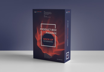 Rectangular Product Box Mockup