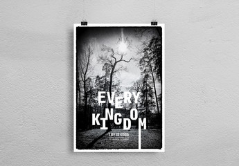 Poster Layout with Nature Photo Element
