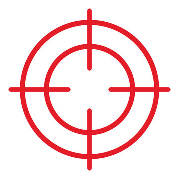 Rotes Fadenkreuz / Vektor, freigestellt
