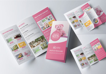 Product Trifold Brochure Layout