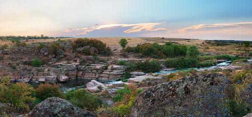 Granite rocks at the river