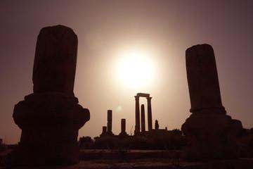 Fototapeta Cytadela Amman zachód słońca obraz