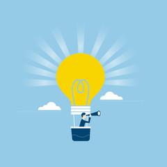 ビジネス、アイデアを見つけるイメージ