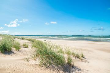 Beautiful sandy beach Yyteri at summer, in Pori, Finland