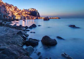 Scilla (in Calabria, Italy) at dusk