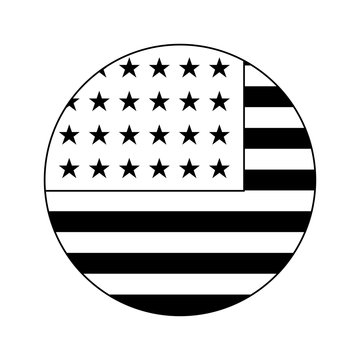 united state of american flag in circle shape