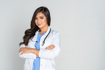 Hispanic Female Doctor In A Hospital