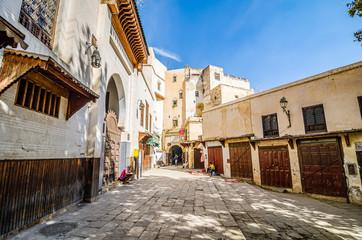 Fes, Morocco - October 17, 2013. Old Medina during Eid al Adha festival