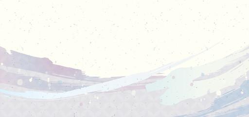水色の和柄 Wall mural