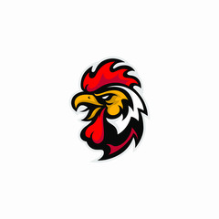Creative and Strong Brand Rooster Cock Vector Logo
