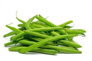 Grüne Bohnen, Phaseolus vulgaris, isoliert