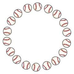 Baseball sport ornament wreath of baseballs decoration