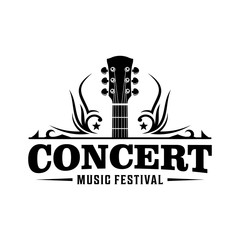Music festival concert / Country music bar vintage logo