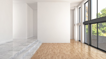 large luxury modern bright interiors room illustration 3D rendering Wall mural
