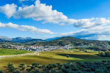 White village of Riogordo, Andalusia, Spain