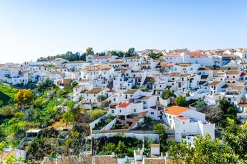White village of Colmenar, Andalusia, Spain