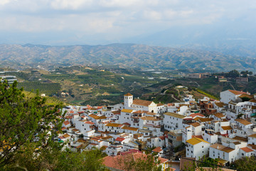 White village of Iznate, Andalusia, Spain