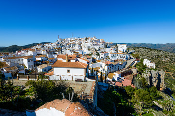 White village of Comares, Andalusia, Spain