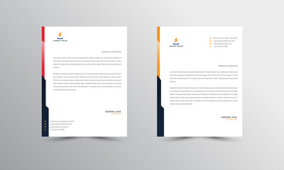 Abtract Letterhead Design Modern Business Letterhead Design Template - vector