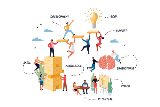 Business Concept of Coaching, Mentoring, Skill, Brainstorm.