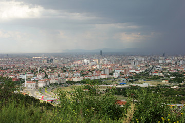 Papiers peints Cracovie view of konya city from the hills