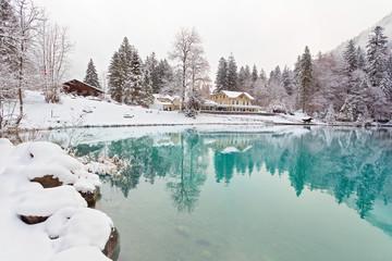 Blausee im Winter, Schweiz