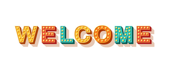 Welcome typography design
