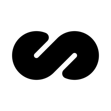 Black infinity symbol icon. Concept of infinite, limitless and endless. Simple flat vector design element
