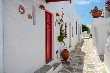 Sifnos Kastro Street Red