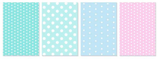 Obraz Polka dot pattern vector. Baby background. - fototapety do salonu