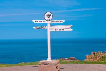 Panneau land's end Paysage Marin  Royaumes-Unis