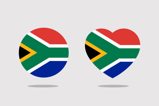 south africa Flag icon sign template color editable. south africa national symbol vector illustration for graphic and web design.